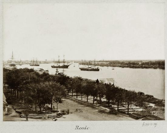 Ships on the port of Saigon 1888