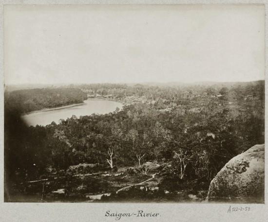 The Saigon River in Vietnam 1888
