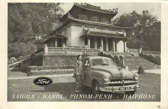 Mẫu quảng cáo này của Ford lấy bối cảnh ở đền Tưởng Niệm, ngày nay là đền thờ Vua Hùng trong khuôn viên Thảo Cầm Viên Sài Gòn.