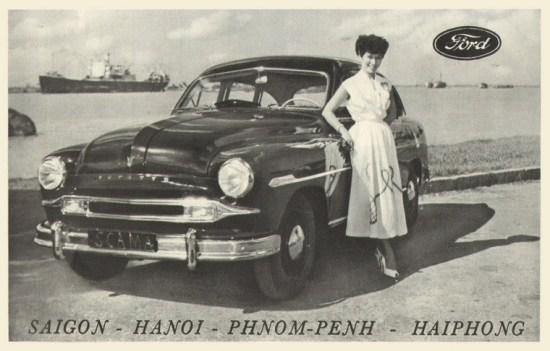 Một mẫu quảng cáo xe hơi của hãng Ford lấy bối cảnh là cảng Hải Phòng. Trước năm 1954, hãng xe hơi nổi tiếng này có 4 chi nhánh tại Đông Dương, nằm ở các thành phố Sài Gòn, Hà Nội, Hải Phòng của Việt Nam và Phnom Penh của Campuchia.