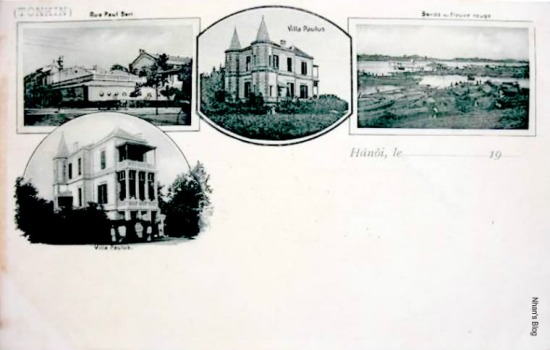 Loại bưu ảnh nhiều hình thời kì tiên phong phát hành vào những năm đầu tiên của thế kỉ XX. So với các ảnh khác trong entry, hình ảnh ngã tư Paul Bert (Tràng Tiền) - Francis Garnier (Hàng Bài) ở góc trái tấm bưu thiếp có thể coi là bức ảnh sớm nhất.