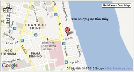 Vị trí phố Phạm Ngũ Lão và khu nhượng địa theo bản đồ hiện nay