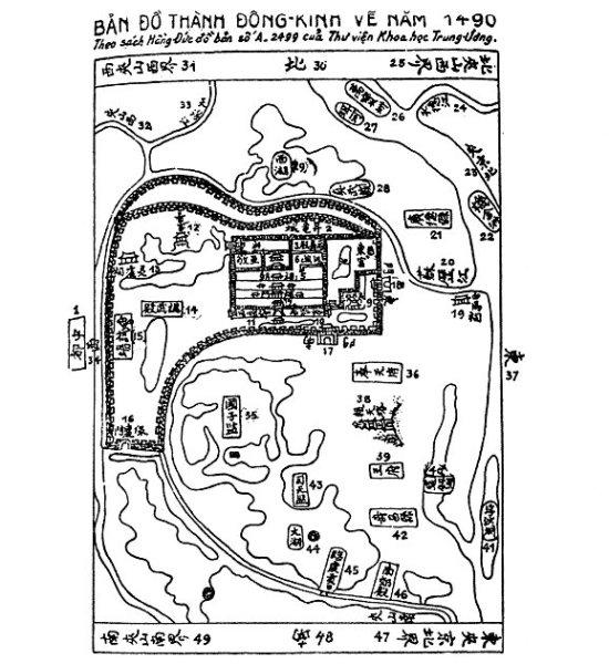Bản đồ tành Đông Kinh vẽ năm 1940