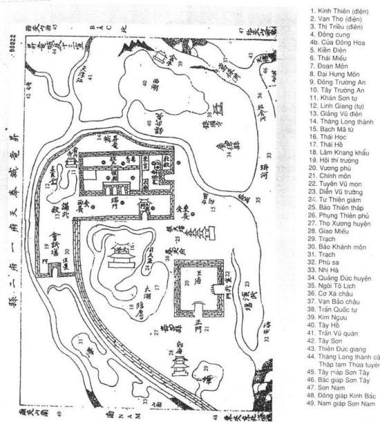 002a.Hoàng thành 4-Bản đồ thời Lê Vẽ năm Gia Long thứ 9 (1810)