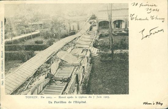1003. Hành lang nhà thương Đồn Thủy đổ sập