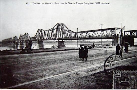 003h.Cầu Long Biên ( ảnh tư liệu của Pháp 1920)