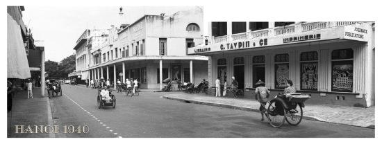 004.HANOI 1940 - Rue Paul Bert, nay là phố Tràng Tiền