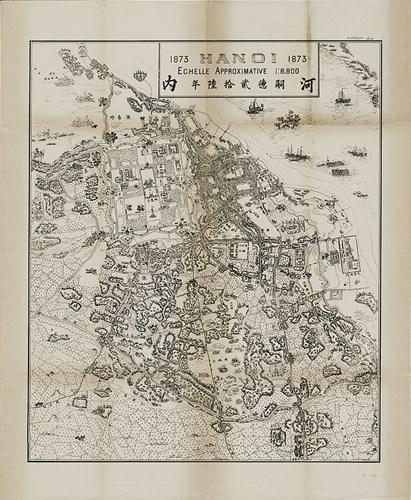 004.Một tấm bản đồ khác của Hà Nội năm 1873.