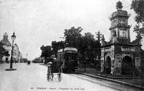 005.Thực dân Pháp phá chùa để làm Nhà Bưu điện, nay chỉ còn lại tháp Hòa Phong