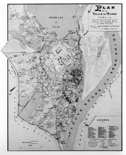 006.Bản đồ Hà Nội năm 1890.