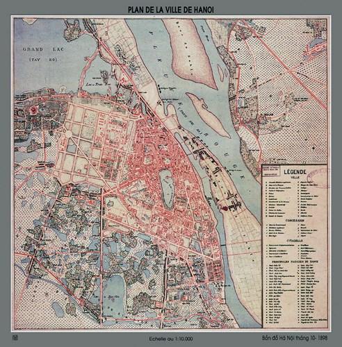 007.Bản đồ Hà Nội năm 1898.