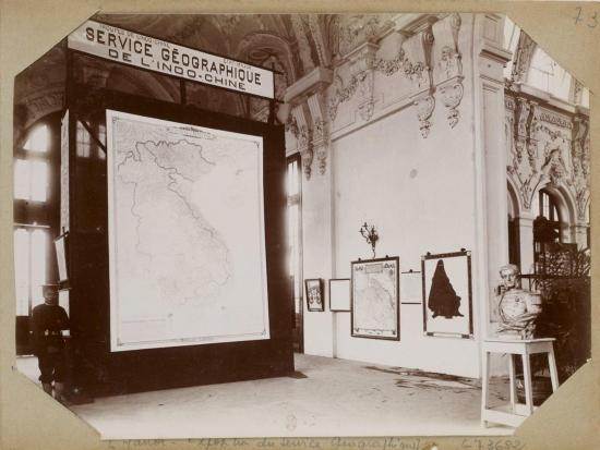 008.Hanoi – Exposition du Service Géographique - Triển lãm của Sở Địa dư Đông Dương