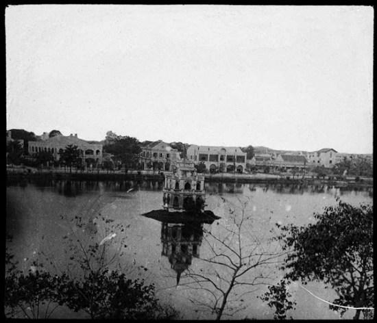 009.Tháp Rùa – Hồ Gươm năm 1908