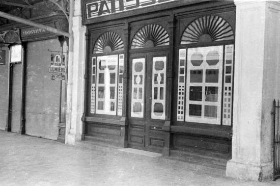 1940 - Closed storefronts in Hanoi