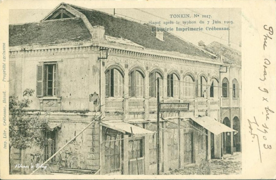 1017. Nhà in của hãng Crebessac (hãng xuất bản những bức bưu ảnh này)