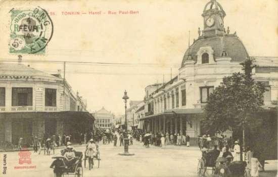 Nhật ấn bưu điện 4.02.1914. Hoạt động buôn bán rất sầm uất.