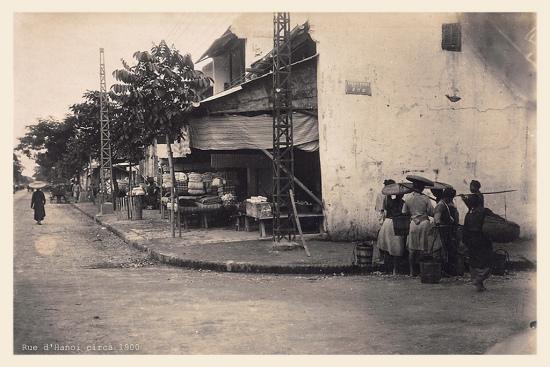 020.Rue d'Hanoi circa 1900