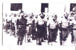 023.Hình ảnh các chiến sĩ và tự vệ Hà Nội làm lễ tuyên thệ thề quyết tử để bảo vệ Thủ đô Hà Nội tháng 12 năm 1946