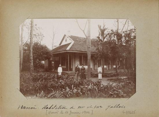 024.Hanoi - Habitation de M. et Mme Galloir (Hanoi le 21 Janvier 1900)