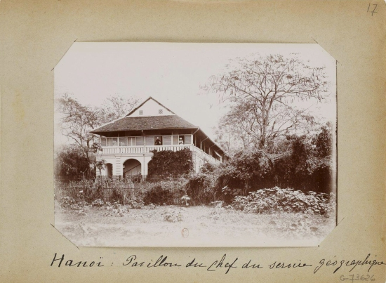 025.(1896-1900) Hanoi - Pavillon du Chef du service géographique - Nhà GĐ Sở địa dư