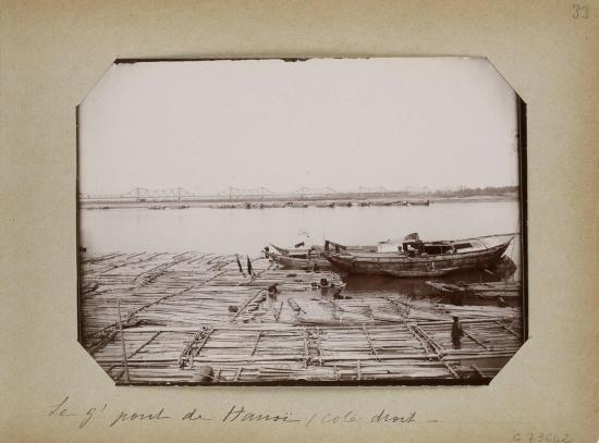 027.Hanoi (1896-1900) - Le g' pont de Hanoi - cote droit