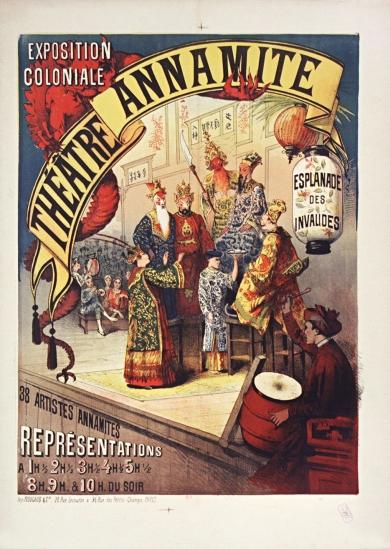 1890 Exposition coloniale. Théatre Annamite