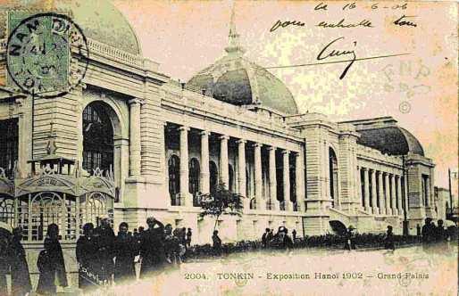 """Tấm bưu ảnh định vị không gian và thời gian của """"Bắc Kỳ – Đấu Xảo Hà Nội 1902""""."""