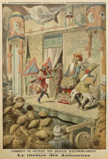 1917  - Cách giải khuây cho binh sĩ miền Viễn Đông của chúng ta- Nhà hát tuồng An Nam - Copy