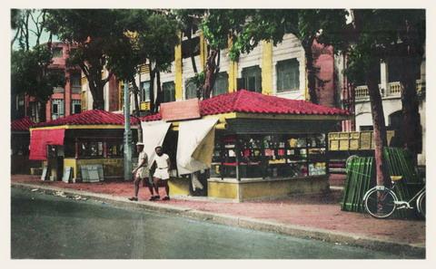 Các cửa hàng trên đường phố.