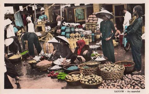 Cảnh chợ búa Sài Gòn.