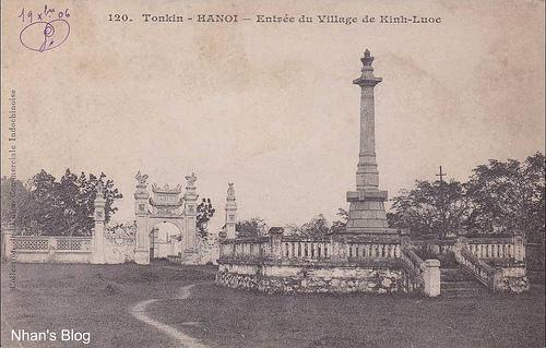 Khu mộ với cấy cột để đặt tượng kiểu như tượng Lê Thái Tổ bên Hồ Gươm.