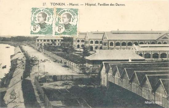 Quân Pháp xây kè sau những vụ lở đất và xây các toà nhà làm quân y viện (nay là Bệnh viện Việt Xô)