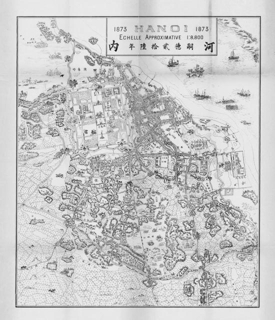 BẢN ĐỒ HANOI 1873 do Phạm Đình Bách vẽ năm 1902 (không phải vẽ năm 1902