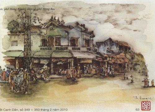 Góc phố Hàng Ngang nhìn về phố Hàng Bạc