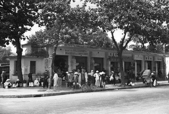 HANOI 1940 - Train station. Ga Đầu Cầu (nay là ga Long Biên)