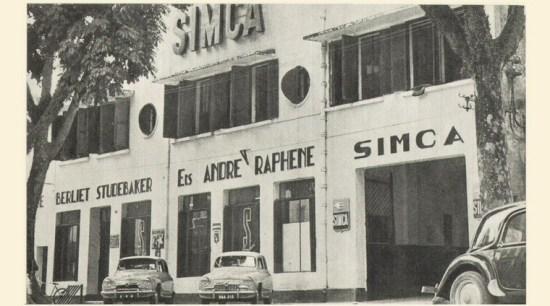 hãng xe hơi Simca lấy hình ảnh tòa trụ sở ở Hà Nội, ngay nay nằm trên đường Hai Bà Trưng.