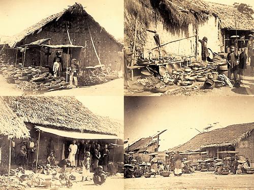 khu chợ nhỏ lẻ ở Hà Nội cuối thế kỷ 19