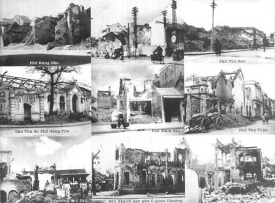Phố trong những năm kháng chiến, khi Trung đoàn Thủ đô rút về Liên khu I – 36 phố phường với những góc phố, ngôi nhà tan hoang