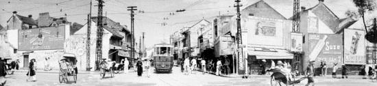 Đầu phố Hàng Gai-Hàng Đào-Cầu Gỗ năm 1940