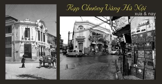 Rạp Chuông Vàng Hà Nội - xưa và nay (địa chỉ- số 72 Phố Hàng Bạc)