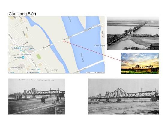 """Cầu Doumer, nay gọi là Cầu Long Biên khai thông từ năm 1902. Nhưng thưở đầu, mối quan tâm của nhà đầu tư chưa phải ưu tiên giành cho Hà Nội mà tuyến đường sắt chạy từ Cảng Hải Phòng chỉ vượt con Sông Cái (hay Sông Hồng) để đi thẳng lên Vân Nam xâm nhập vào thị trường vùng Tây Nam của cái quốc gia khổng lồ mà tất cả các đế quốc Âu Tây đang mong ước đựợc dự """"bữa cỗ Trung Hoa""""."""