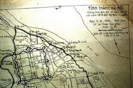 Thành Hà nội. Phỏng theo bản đồ vẽ năm 1866 và 1873 đời Tự Đức