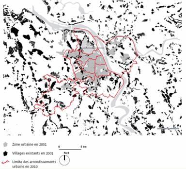 carte1-Các thành phố và làng mạc. Trong năm 2010, hàng trăm bốn mươi tám làng nằm trong ranh giới của quận © RADIO PHÁP; TÁC GIẢ: Emmanuel CHERRY