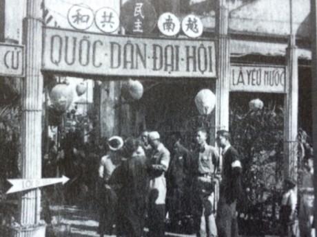 004.Chuẩn bị bầu cử Quốc hội khóa I tại ngõ Phất Lộc (Hà Nội) năm 1946