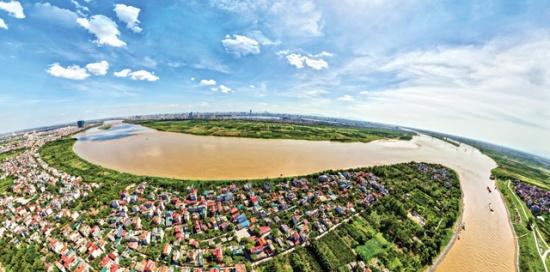 Ngã ba sông Hồng. Ảnh Vingg.com