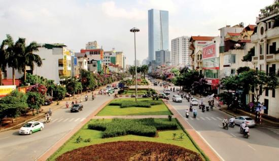 Tuyến đường Liễu Giai - Văn Cao hôm nay. Ảnh: Phạm Hùng