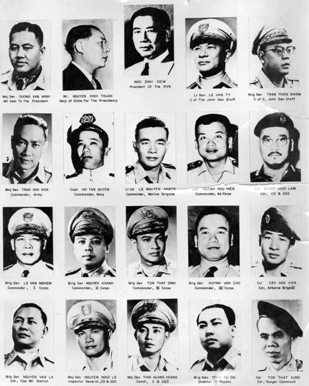 President Diem and his generals