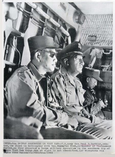 1962 U.S. Gen. Harkins with Vietnamese General Duong Van Minh