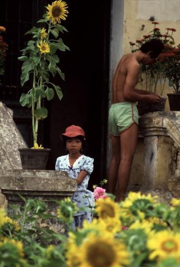 Một góc đường Nguyễn Huệ dịp Tết 1988.