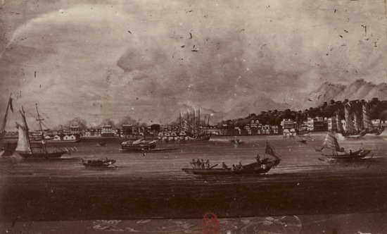 Bến cảng ở Bắc Kỳ .